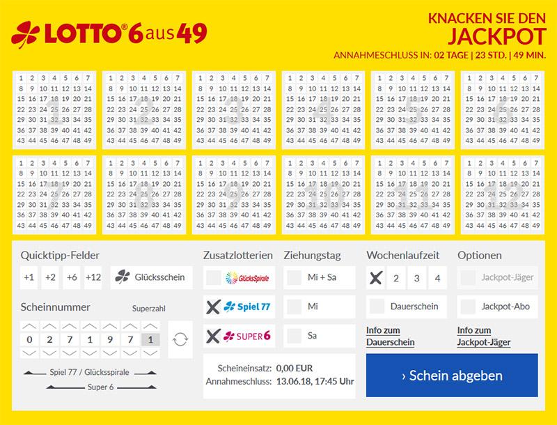 Lotto24 Spielschein